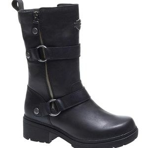 NWT Harley Davidson Black Leather Motorcycle Boots